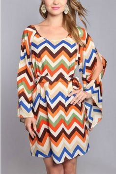 Elements Of Nature Zigzag Dress. Great dress with boots!
