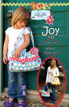 the Joy Bag e-pattern. $6.00, via Etsy.
