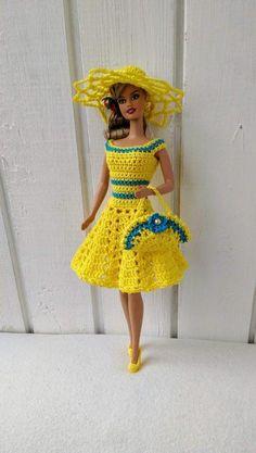 Crochet Toys Barbie Clothes Barbie clothes Barbie Crochet Dress for Barbie Doll, Crochet set, coat, handbag Irresistible Crochet a Doll Ideas. Wonderfully Creative Crochet a Doll Ideas. Crochet Doll Dress, Crochet Barbie Clothes, Doll Clothes Barbie, Barbie Doll, Dress Barbie, Barbie Outfits, Barbie Clothes Patterns, Dress Patterns, Crochet Designs
