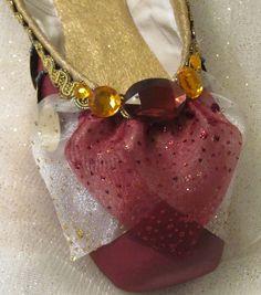 Nutcracker Arabian decorated pointe shoe, Gamzetti, La Bayadere. Nutcracker ballet gifts. Custom colors available.