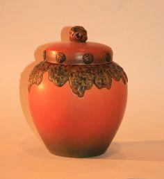 Vintage Danish Ceramic Lidded Vase | Vintage Duds and Decor