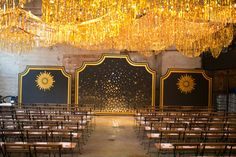 gold fringe ceremony garlands