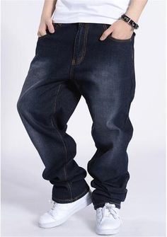 Baggy Style Loose Hip Hop Jeans Ropa Moderna 57281d2bf82