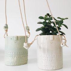 Trouva: Atelier Stella White Hanging Planter. Click through to shop.