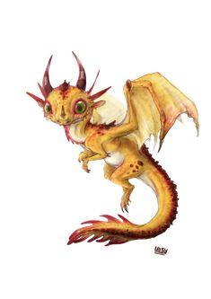Baby dragon flying by Ulksy on DeviantArt