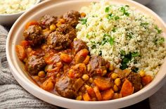 Moroccan Meatball Tagine -- A dash of Ac'cent brings out the flavor in every meal - accentflavor.com #moroccan #meatball #yummy