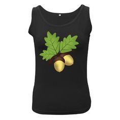 Acorn+Hazelnuts+Nature+Forest+Women's+Black+Tank+Top