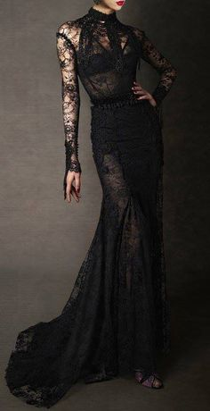 Black lace full length dresses are the best thing since sliced bread. One of my top sexy outfits.