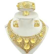 free shipping  african  jewelry sets high quality jewery set wedding party jewelry set 18k gold fine jewelry women necklace
