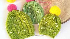 Crochet a Cactus Beanie for your Baby! – Newborn to Toddler Sizes Newborn Crochet, Crochet Baby Hats, Cute Crochet, Baby Newborn, Crocheted Hats, Crochet Headbands, Crochet Mens Scarf, Crochet Beanie, Crochet Star Stitch