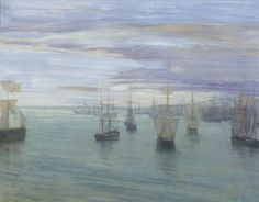 Crepuscule in Flesh Colour and Green...1866 by  James Abbot McNeill Whistler