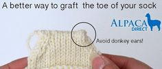 A better way to graft the toe of your sock