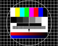 Previously, on a German TV... The TV stations used to knock off around midnight and broadcast this test image until 6am...