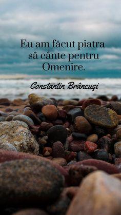 """Eu am făcut piatra să cânte pentru omenire"" - Constantin Brâncuși. Constantin Brancusi, Quotes, Movies, Movie Posters, Self, Quotations, Films, Film Poster, Cinema"