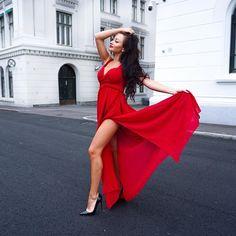#ladyinred 💃🏻