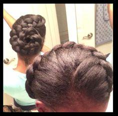 Natural hairstyle big braid