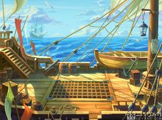 Background of the casting interface(MMORPG). Background of the casting interface(MMORPG). Anime Pirate, Pirate Art, Pirate Theme, Game Environment, Environment Concept Art, Environment Design, Episode Interactive Backgrounds, Episode Backgrounds, Pirate Illustration