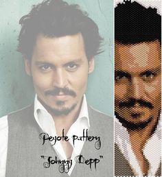 Peyote pattern  for bracelet cuff  Johnny Depp di LePCCdiMeri
