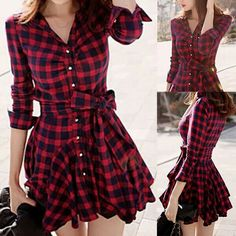 Red and black plaid dress / shirt