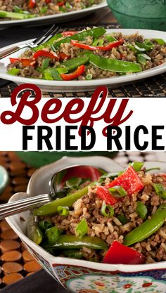 Our Beefy Fried Rice is a real meal-in-one that you can have ready for your gang in just 15 minutes! This hearty, Asian-inspired dish is perfect for when you're in a rush, or any time that you don't want to spend all evening cooking! Fun Easy Recipes, Asian Recipes, Whole Food Recipes, Cooking Recipes, Asian Foods, Healthy Ground Beef, Ground Beef Recipes For Dinner, Fried Rice Dishes, Slow Cooker Ground Beef