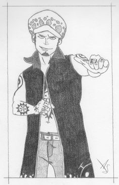 Trafalgar Law - One Piece  One of my top fav One Piece characters. Had fun sketching him. Reference Image: http://www.123rf.com/photo_227075_an-asian-male-model-in-a-kung-fu-pose.html