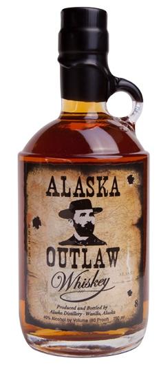 Alaska Outlaw Whiskey, a small batch artisan whiskey from alaska distillery