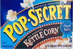 Pop Secret Kettle Corn: 5 grams/serving