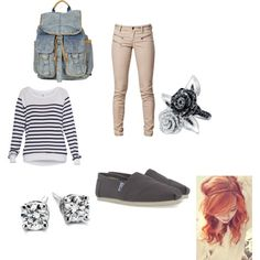 Important to look good your first day and be comfortable! lol back to school outfit 2013