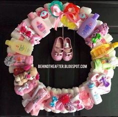 Make a wreath from useful baby items for a baby shower gift Jewelry, Fashion, Jewellery Making, Moda, Jewellery, Jewelery, Fasion, Fine Jewelry, Jewel