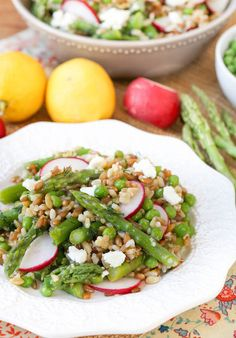 Asparagus, peas, and radishes are the star spring produce in this Spring Vegetable Grain Salad with Lemon Dill Dressing.
