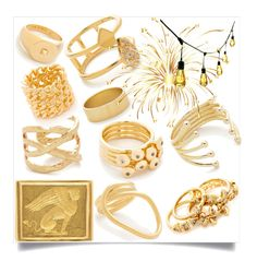 """""""Collection Of Gold Rings..**"""" by yagna ❤ liked on Polyvore featuring Elizabeth and James, Gorjana, Amber Sceats, Eddie Borgo, Sarah Chloe, Luv Aj, Ariel Gordon, Brigid Blanco, Ove Decors and vintage"""
