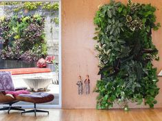 Get your gardening on with these vertical gardens for indoor or outdoor use. Set them up onany type of wall or fence with thesetotally modular pockets crafted from recycled plastic bottles. Easy enough to Do-It-Yourself and durable enough for professionaluse, Wallys create an instant lush living wall. Just attach your systemthen fill the Pockets with soil and full-sized plants.