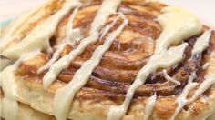 Cinnamon Roll Pancakes - sub out sugars & milk for on plan items, use S recipe for pancakes.