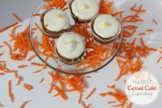Best Carrot Cake Cupcakes with Cream Cheese Frosting Recipe