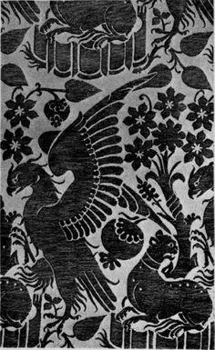 goes hugo van der netherlandish northern renaissance ca  14th century sicilian silk pattern · textile patternsdesign patternsembroidery patternstextile designart essayrenaissance