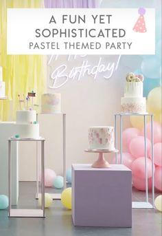 Pastel Party Decor #pastel #partydecor Pastel Party, Party Bags, Pretty Pastel, Party Supplies, Party Themes, Balloons, Fun, Decor, Globes