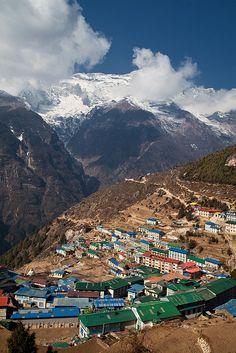 The gateway to the high Himalaya, Namche Bazaar, Nepal
