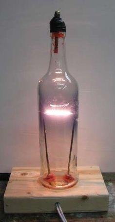 Bottle Light Bulb AKA Bacardi Bulb Bottle Light Bulb AKA Bacardi Bulb : 8 Steps (with Pictures) – Instructables Bacardi, Diy Bottle, Bottle Art, Bottle Cutting, Diy Greenhouse, Bottle Lights, Hacks, Diy Electronics, Incandescent Bulbs