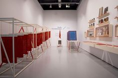 Top and above: Turkish Red & More, installation view at the Tilburg Textile Museum. Exhibition design by Studio Formafantasma