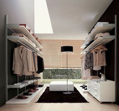I could use a walk-in closet like this