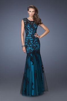 2014 Noble Prom Dresses Sweetheart Mermaid Floor Length With Trumpet Tulle Skirt