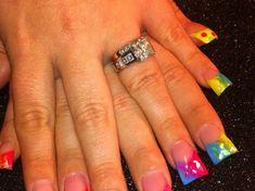 Fluorescent Nail Designs: Make Your Evening Special ...  #nails #brightsummeracryrlicnails #summernails Pink Nail Designs, Winter Nail Designs, Nail Polish Designs, Acrylic Nail Designs, Bright Summer Acrylic Nails, Colored Acrylic Nails, Bright Pink Nails, Winter Nails, Spring Nails