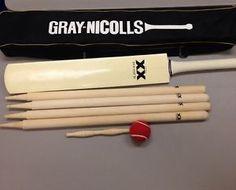 Gray-Nicolls Cricket Bat Travel Set Dos Equis XX Beer Alcohol Stumps Bail Ball