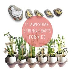 11 awesome spring crafts for kids - I like the cherry blossom tree craft :-)
