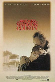 The Bridges of Madison County is a 1995 American romantic drama film based on the best-selling novel of the same name by Robert James Waller.[3] It was produced by Amblin Entertainment and Malpaso Productions, and distributed by Warner Bros. Entertainment. The film was produced and directed by Clint Eastwood with Kathleen Kennedy as co-producer and the screenplay was adapted by Richard LaGravenese. The film stars Eastwood and Meryl Streep.