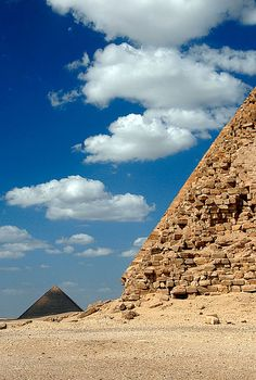 "Red Pyramid behind the ""Bent"" Pyramid, Dahshur, Egypt"