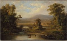 Landscape with Cows Watering in a Stream : Free Download & Streaming : Internet Archive