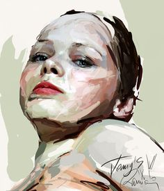 Frank E Rannou - Love the balance between the brush strokes and detail #portrait #painting