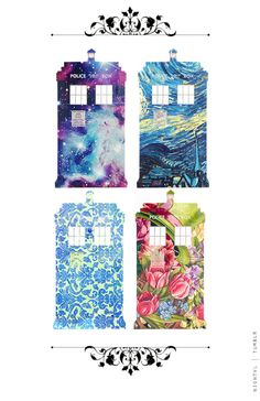 Doctor Who ~ patterned Tardis Dr Who, Brainstorm, Die Tardis, Tardis Art, Tardis Blue, Sherlock, Just In Case, Just For You, The Doctor