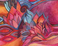 Sunburst Original Watercolor by Megan Noel by meinoel on Etsy